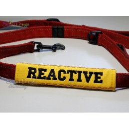 REACTIVE - ITH Leash Safety Wrap Yellow Dog Ribbon 5x7 inch Machine Embroidery Design