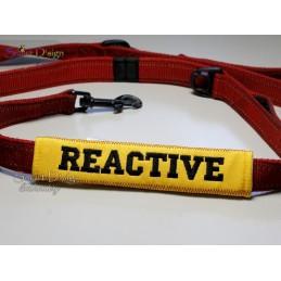 REACTIVE - ITH Leinen Sicherheits-Überzieher - Gelber Hund Projekt 13x18 cm Stickdatei