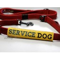SERVICE DOG - ITH Leash Safety Wrap Yellow Dog Ribbon 5x7 inch Machine Embroidery Design