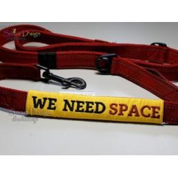 WE NEED SPACE - ITH Leinen Sicherheits-Überzieher - Gelber Hund Projekt 13x18 cm Stickdatei