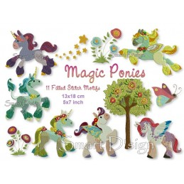 Magic Ponies 11 Motifs 5x7""