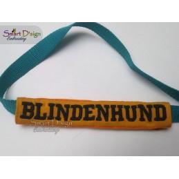 BLINDENHUND - ITH Leinen Sicherheits-Überzieher - Gelber Hund Projekt 13x18 cm Stickdatei