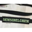 SENSIBELCHEN - ITH Leash Safety Wrap Yellow Dog Ribbon 5x7 inch Machine Embroidery Design