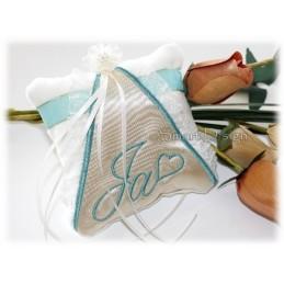 ITH Wedding Ring Cushion 5x5 inch