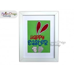 Happy Easter Hase Applikation 13x18 cm Stickdatei