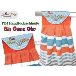 BIN GANZ OHR - Oster ITH Hängeschlaufe für Geschirrtücher, Stickdatei