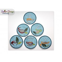 ITH 6x TEA TIME Coaster 4x4 inch