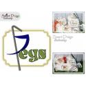 PEGS Applique 5x7 inch Machine Embroidery Design