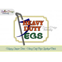 HEAVY DUTY PEGS Applique 5x7 inch Machine Embroidery Design