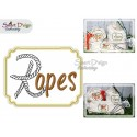 ROPES Applique 5x7 inch Machine Embroidery Design
