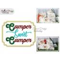 CAMPER SWEET CAMPER Applique 5x7 inch Machine Embroidery Design