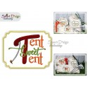 TENT SWEET TENT Applique 5x7 inch Machine Embroidery Design