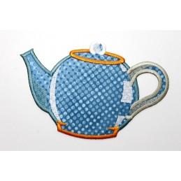 ITH TEA COFFEE POT Coaster 5x7 inch Machine Embroidery Design