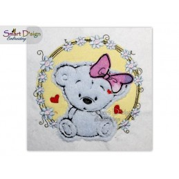 BABY Raw Edge Doodle Applique 5x5 inch Machine Embroidery Design