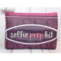 SELFIE PREP KIT - Cosmetic Zipper Bag ITH Machine Embroidery Design
