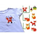 Foxy Pocket Appliques & Filled Stitch 4x4 inch