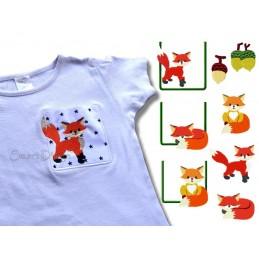 Fuchs Taschen-Applikationen und Füllstich 10x10 cm