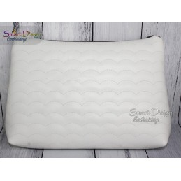 BLACK ROSE - Cosmetic Zipper Bag ITH Machine Embroidery Design