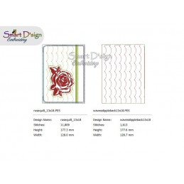 BLACK ROSE - Cosmetic Zipper Bag ITH Machine Embroidery Design