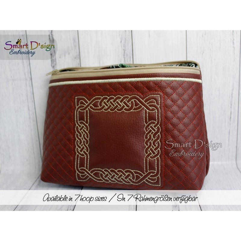 CELTIC KNOT - Travel Bag ITH Machine Embroidery Design