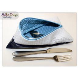 ITH UPHILL CUTLERY BAG 6x10 inch Machine Embroidery Design