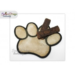 ITH PAW COASTER 13 cm Machine Embroidery Design