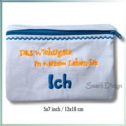 Wichtigste ITH Zipper Bag Fully Lined