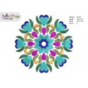 FOLKLORE FLOWER MANDALA Machine Embroidery Design