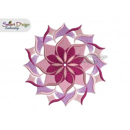 WIND WHEEL FLOWER 01 MANDALA Machine Embroidery Design