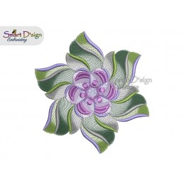 WIND WHEEL FLOWER 03 MANDALA Machine Embroidery Design