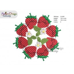 STRAWBERRY MANDALA Machine Embroidery Design