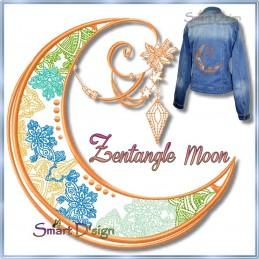 Romantischer Zentangle Mond