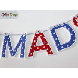 ITH LETTER BUNTING 4x4 inch