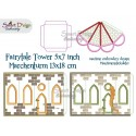 FAIRY TALE TOWER 5x7 inch Machine Embroidery Design