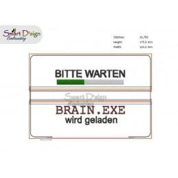 ITH BRAIN.EXE Stiftetasche 13x18 cm Stickdatei