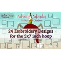ADVENT CALENDAR 24x Designs - 2 hoop sizes available