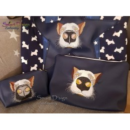 Nosy Dog Machine Embroidery Design