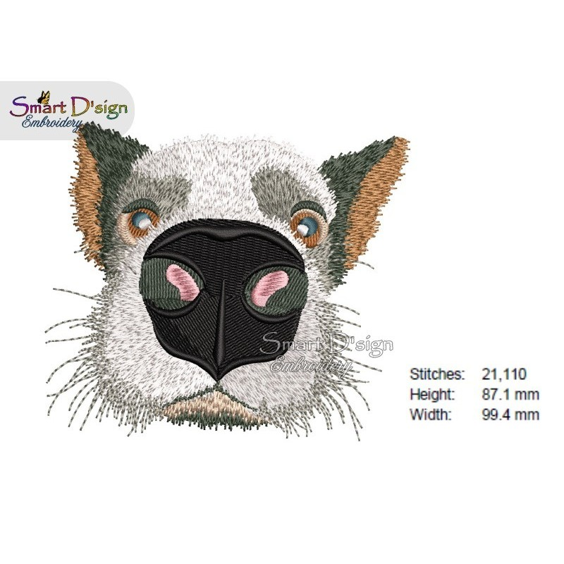 Nosy Dog Machine Embroidery Design