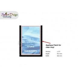 AUSWEIS STECKFACH Applikation 10x10 cm Rahmen Stickdatei