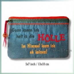 Hölle ITH Zipper Bag Fully Lined
