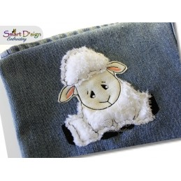 LOCKIE THE SHEEP Applique Machine Embroidery Design