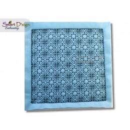GEO FLOWER 01 ITH Quilt Block - Machine Embroidery Design