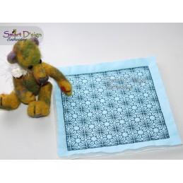 GEO BLUME 01 - ITH Quilt Block - Stickdatei