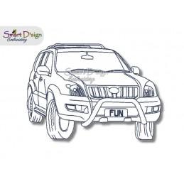 4WD Offroad Prado - Redwork Stickdatei