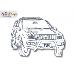 PRADO 4WD Redwork - Machine Embroidery Design