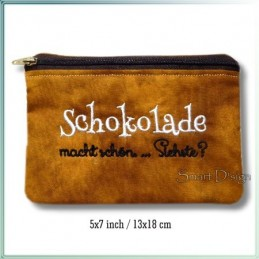 Schokolade ITH Zipper Bag Fully Lined