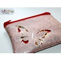 ITH EVENING CLUTCH Butterfly Reverse Applique Bag for Cork/Vinyl