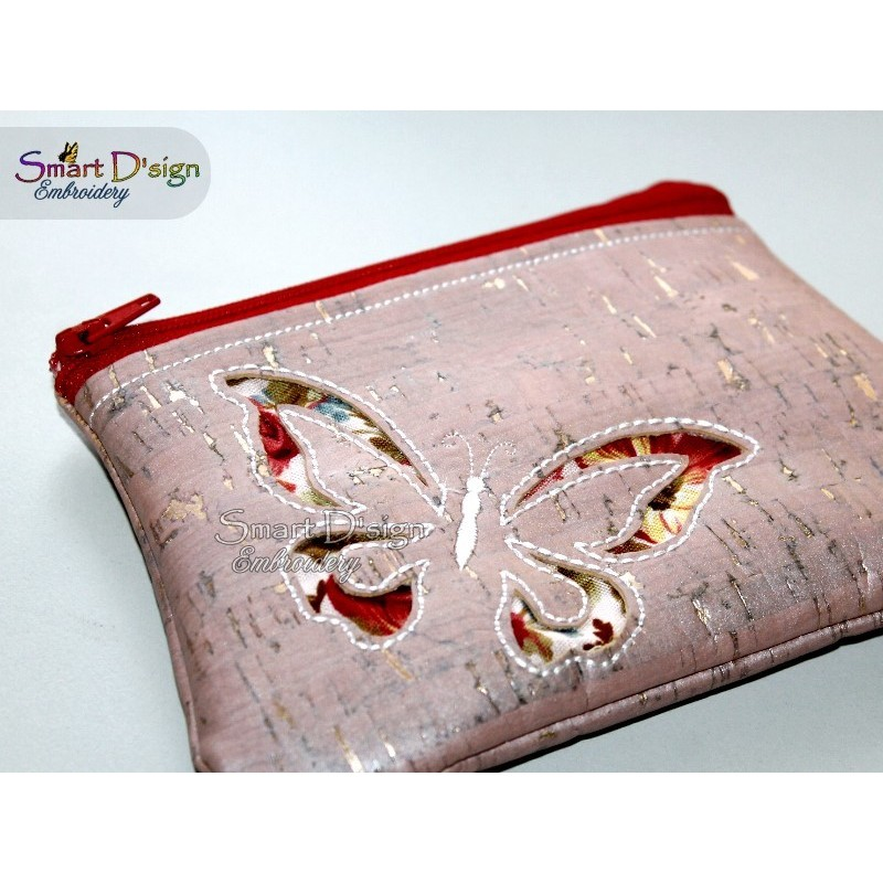 ITH EVENING CLUTCH Butterfly Reverse Applique Bag for Cork/Vinyl