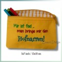 Hofnarr ITH Zipper Bag Fully Lined