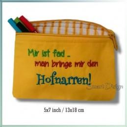 Hofnarr ITH Zipper Bag Fully Lined